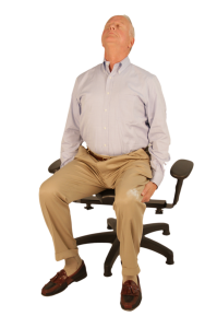 Senior Citizen Using the Pettibon Wobble Chair